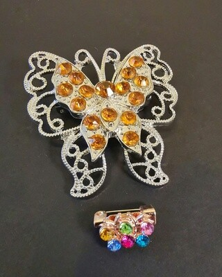 Intuition Amber Butterfly Brooch and Pin