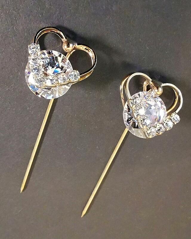 Marietta Double Love Diamond Brooch