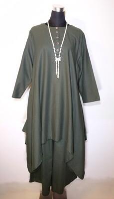 Cotton Linen Tunic and Drawstring Pants