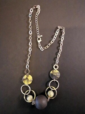Elevation Black Brown Stone Necklace
