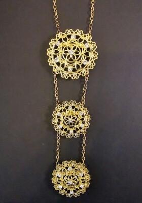 Imagination Golden Emblem Necklace