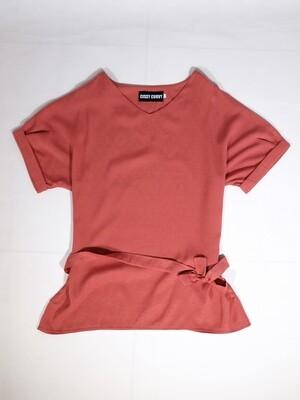 Cotton Linen V-Neck Short Sleeve Blouse