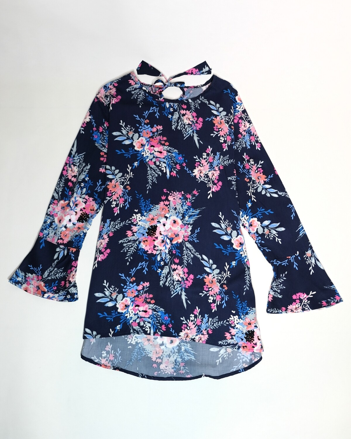 Printed Floral Bell Sleeve Blouse