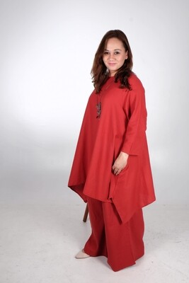 Cotton Linen Asymmetric Tunic