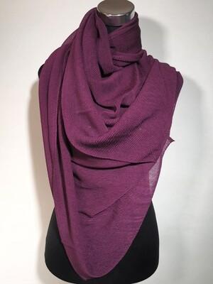 Redefine Dark Purple Pleated Scarf