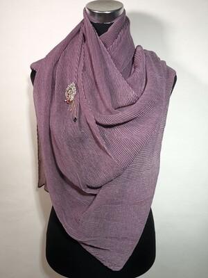Splendid Purple Pleated Scarf