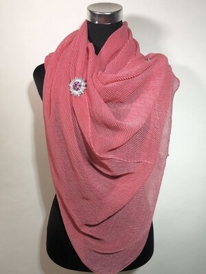 Infinity Pink Pleated Scarf