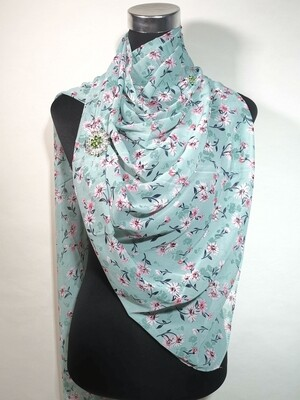 Northshore Green Floral Scarf