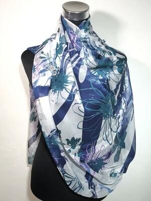 Southshore Blue Floral Scarf