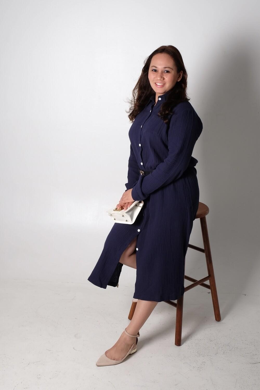 Cotton Linen Long Shirt Dress