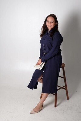 Cotton Linen Long Shirt Dress