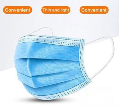 25PCS-Pack ADULT 3-Ply Disposable Face Mask