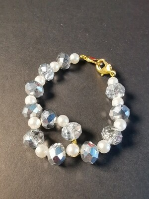 Dual Function Face Mask Extender and Bracelet (Diamond Pearl Color)