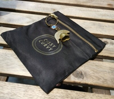 (Pouch Only) Premium Washable Water Repellent Pouch with durable Gold YKK Zip