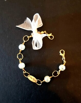 Dual Function Face Mask Extender & Bracelet (Okinawa Pearl Beads)