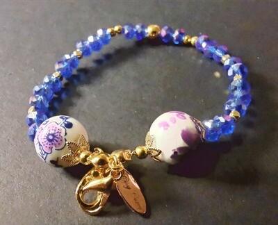 Dual Function Face Mask Extender & Bracelet (Aoiumi Beads)