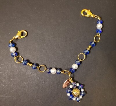 Dual Function Face Mask Extender and Bracelet (Sapphire Pearl Color)