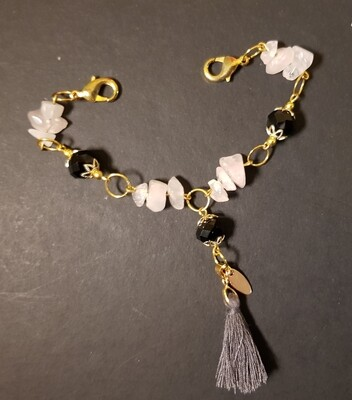 Face Mask Extender (Stones and Black Pearl Beads)