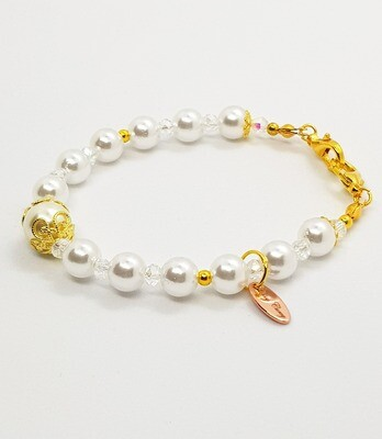 Dual Function Face Mask Extender & Bracelet (Yui Pearl Beads)