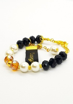 Dual Function Face Mask Extender & Bracelet (Ichika Black Diamond Beads)