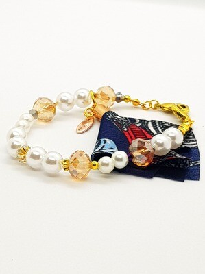 Dual Function Face Mask Extender & Bracelet (Hina Pearl Beads)