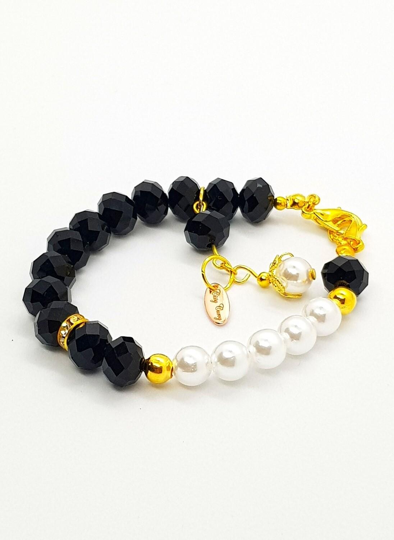 Dual Function Face Mask Extender & Bracelet (Akane Pearl Beads)