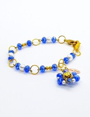 Dual Function Face Mask Extender & Bracelet (Sapphire Pearl Color)