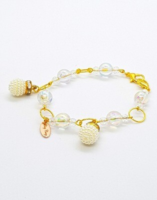 Dual Function Face Mask Extender & Bracelet (Sakura Passion Beads)