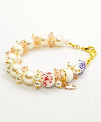 Dual Function Face Mask Extender & Bracelet (Nariko Pearl Beads)