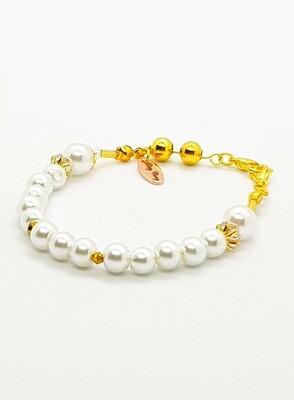 Dual Function Face Mask Extender & Bracelet (Himari Pearl Beads)