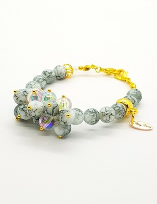 Dual Function Face Mask Extender & Bracelet (Nanami Pearl Beads)