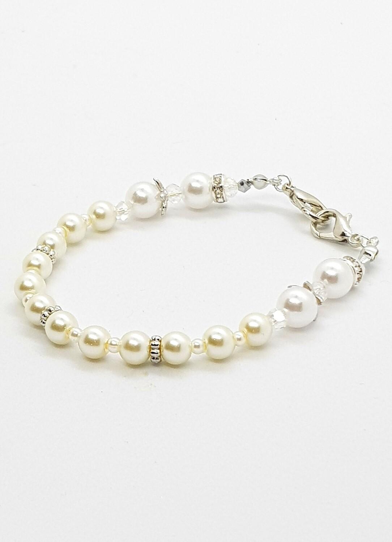Dual Function Face Mask Extender & Bracelet (Chisato Pearl Beads)