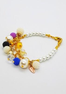 Dual Function Face Mask Extender & Bracelet (Yua Multi Pearl Beads)