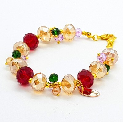 Dual Function Face Mask Extender & Bracelet (Ae-Cha Pearl Beads)