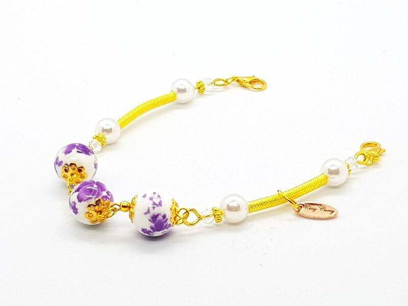 Dual Function Face Mask Extender & Bracelet (Chaewon Pearl Beads)
