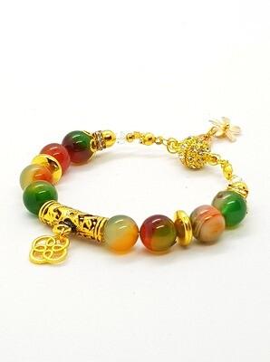 Health & Prosperity Bracelet (Kenko Hanei ~ Jasper Stone Beads)