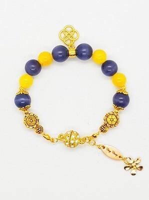 Bracelet Natural Stone Beads (Chowa Shizukesa ~ Fluoride Stone Beads)