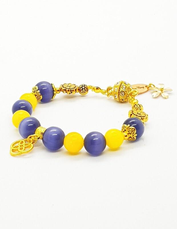 Harmony & Serenity Bracelet (Chowa Shizukesa ~ Fluoride Stone Beads)