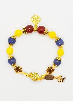 Bracelet Natural Stone Beads (Fuyu Kofuku ~ Citrine Stone Beads)