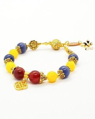Winter & Happiness Bracelet (Fuyu Kofuku ~ Citrine Stone Beads)
