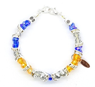 Bracelet & Face Mask Extender Dual Function (Hae-Won Amethyst Silver Beads)