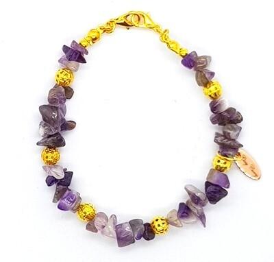 Bracelet & Mask Extender Dual Function (Garnet Aquamarine Irregular Semi-Precious Gemstone Beads)