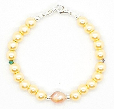 Bracelet & Face Cover Extender Dual Function (Marvelous - Freshwater Pearl Charm & Pearl Beads)