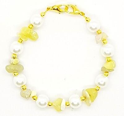 Bracelet & Face Mask Extender Dual Function (Charlotte - Irregular Stone & Pearl Beads)