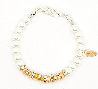 Bracelet & Face Cover Extender - Dual Function (Hyejin Silver White Pearl Beads)