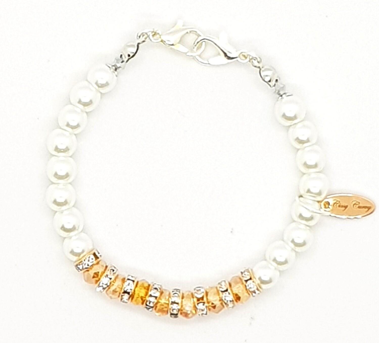 Bracelet & Face Mask Extender - Dual Function (Hyejin Silver White Pearl Beads)