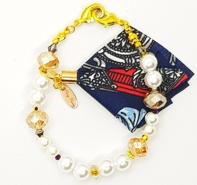 Bracelet & Face Mask Extender Dual Function (Hina - Pearl & Amethyst Beads)