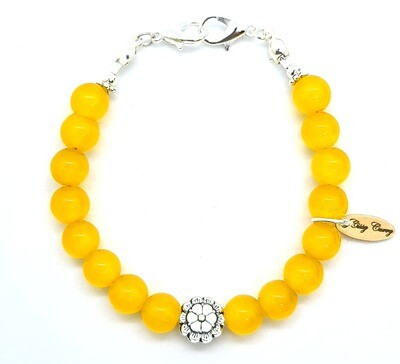 Bracelet & Face Mask Extender Dual Function (Silver & Cat's Eye Natural Stone Beads)
