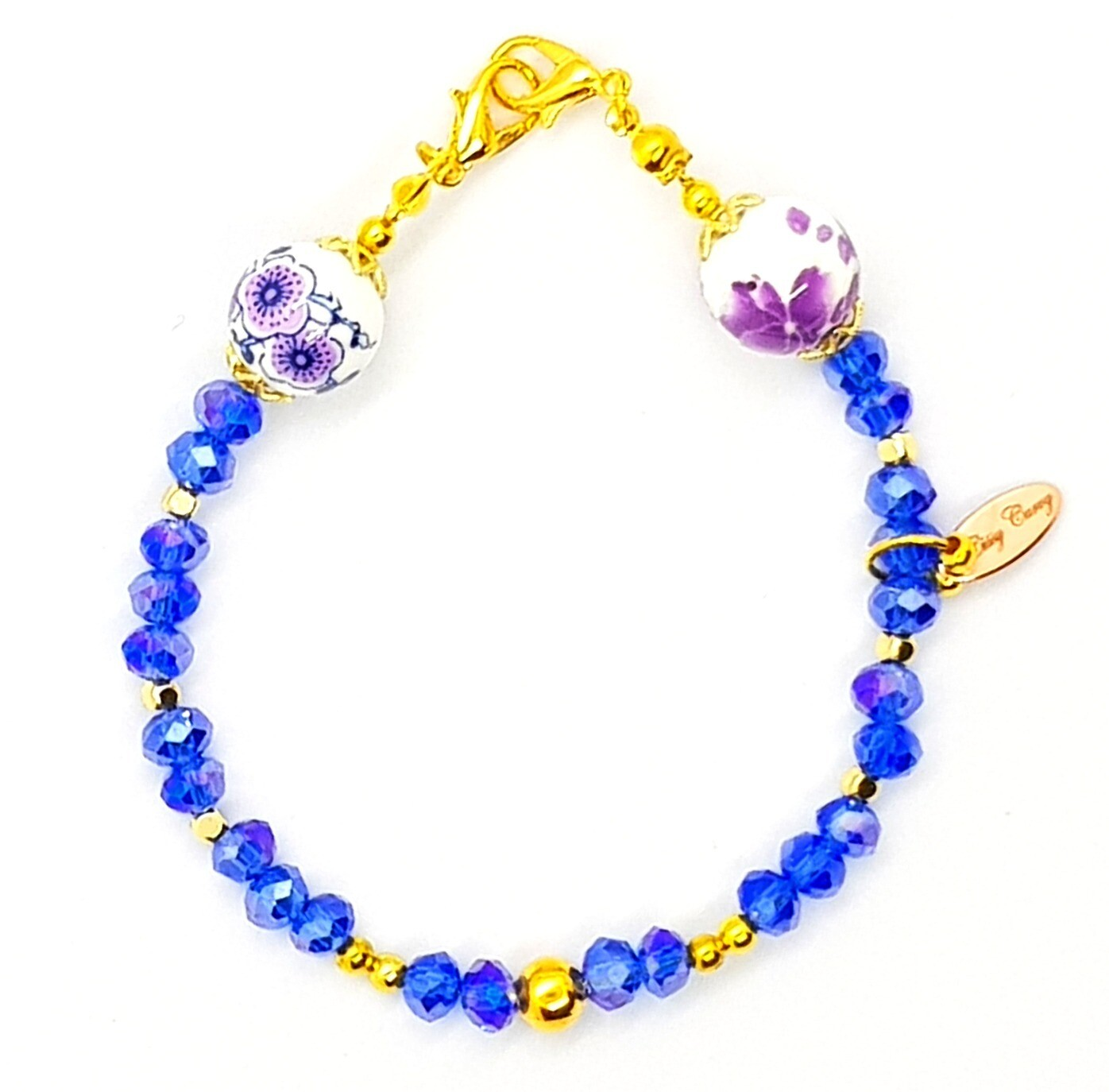 Bracelet & Face Mask Extender Dual Function (Aoiumi - Crystal Czech Beads)