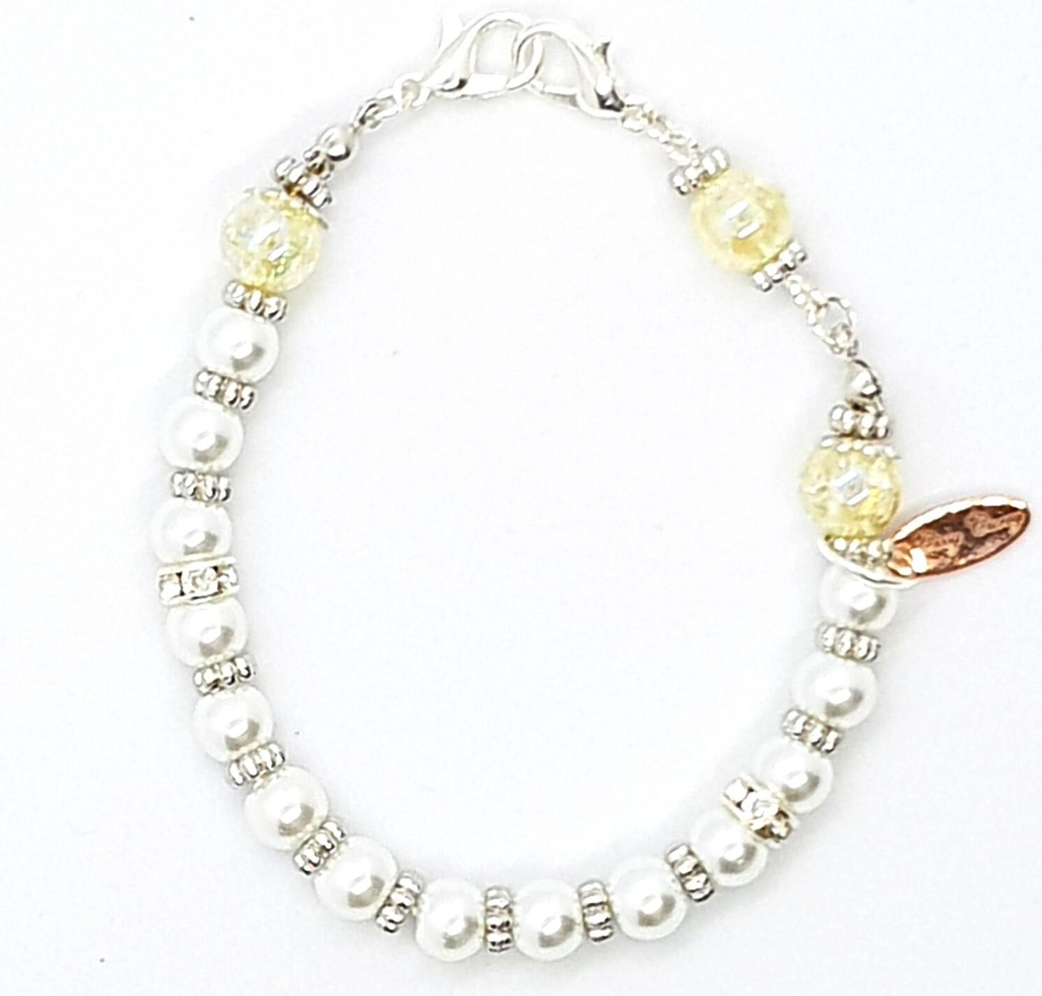 Bracelet & Face Mask Extender Dual Function (Sonata - Pearl Beads)